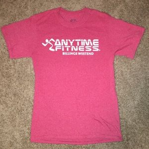 NEW Red Anytime Fitness Small T-Shirt